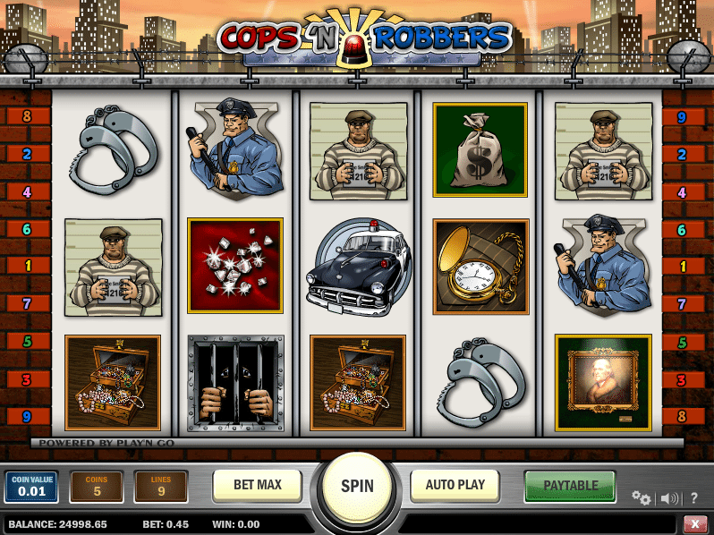 free online casino slots cops and robbers slot