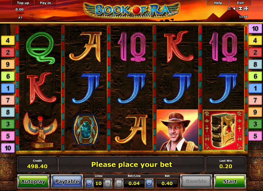 free casino online slot machine book of ra